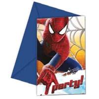 Pandoli Spiderman Davetiye Ve Zarf 6 Adet