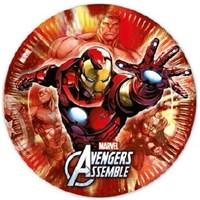Pandoli Avengers Kağıt Tabak 23 Cm 8 Adet