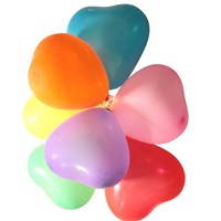 Pandoli 25 Adet Karışık Renkli Latex Kalp Balon