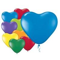 Pandoli 100 Adet Karışık Renkli Latex Kalp Balon