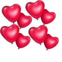 Pandoli 100 Adet Kırmızı Kalp Şekilli Balon