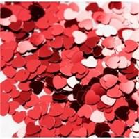 Pandoli Kalp Figürlü Kırmızı Renk Masa Üzeri Serpme Konfeti 15 Gr