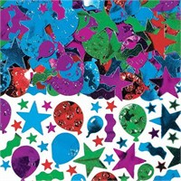 Pandoli Balonlar Ve Yıldızlar Karışık Renk Masa Üzeri Serpme Konfeti 15 Gr