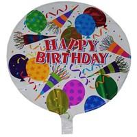 Pandoli Goğum Günü Süsleri Temalı Beyaz Renk Happy Birdhday Folyo Balon
