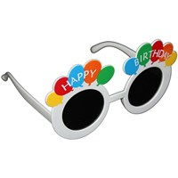 Pandoli Beyaz Renk Happy Birthday Gözlük
