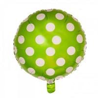 Pandoli Beyaz Puantiyeli Yeşil Renk Folyo Balon