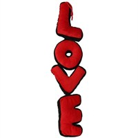 Pandoli Kırmızı Siyah Love Peluş Yastık