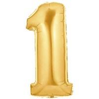 Pandoli 90 Cm Gold Renk Rakamlı Folyo Balon 1 Numara