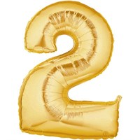 Pandoli 90 Cm Gold Renk Rakamlı Folyo Balon 2 Numara