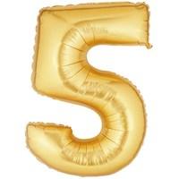 Pandoli 90 Cm Gold Renk Rakamlı Folyo Balon 5 Numara