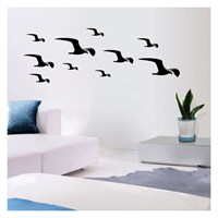 Rain Bird Kadife Duvar Sticker 10 Adet
