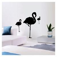 Artikel Flamingo Kadife Duvar Sticker ve Tuz boyama