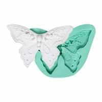 Kurdelya İşlemeli Noktalı Kelebek Silikon Kalıp