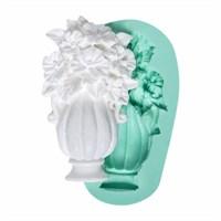 Kurdelya Vazoda Çiçek Silikon Kalıbı