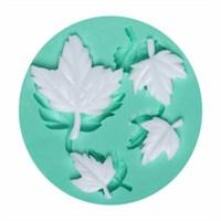 Kurdelya Çoklu Minik Yaprak Silikon Kalıbı