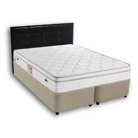 Derman Yatak Çift Kişilik Sandıklı Kumaş Baza + Başlık + Full Full Ortopedik Yatak 160*200