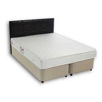 Derman Yatak Çift Kişilik Sandıklı Kumaş Baza + Başlık + Ekonomik Yatak 160*200