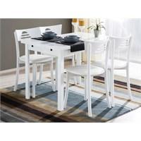 Kavi Home 70X110 Yandan Açılır Masa + 4 Adet Lüks Demonte Tonet Sandalye