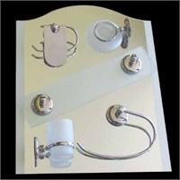 Banyo Ayna Seti 43x53 cm 6 Parça Model 245