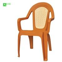 Bunjee Maksi Çift Renkli Plastik Sandalye Kahve