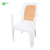 Bunjee Nirvana Çift Renkli Plastik Sandalye Beyaz Kahve