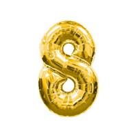 KullanAtMarket 8 Rakam Altın Folyo Balon