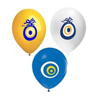KullanAtMarket Renkli Nazar Boncugu Balon