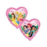 KullanAtMarket Prensesler Kalp Folyo Balon 45 Cm