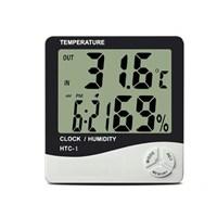 Buffer Masaüstü Dijital Termometre Nem Ölçer Saat