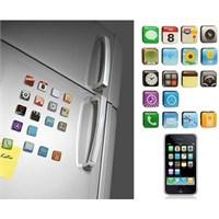 Buffer İphone Teması Buzdolabı Magnetleri (18 Parça)