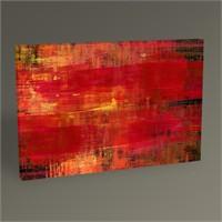 Tablo 360 Kırmızı Soyut Yağlı Boya Tablo 45X30