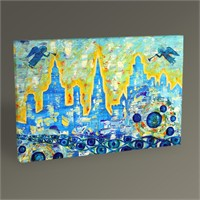 Tablo 360 City ??Of Angels Tablo 45X30