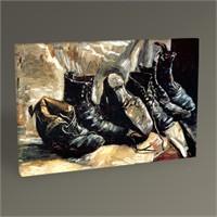 Tablo 360 Vincent Van Gogh Üç Çift Ayakkabı Tablo 45X30