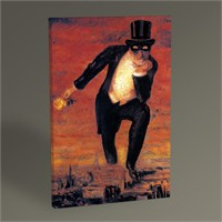 Tablo 360 Rene Magritte The Return Of The Flame 45X30