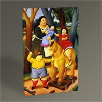 Tablo 360 Fernando Botero At The Park 45X30