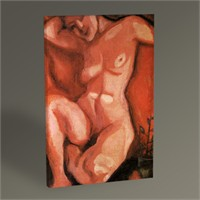 Tablo 360 Marc Chagall Red Nude Sitting Up 45X30