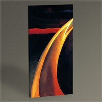 Tablo 360 Georgia O'keeffe Orange And Red Streak 60X30
