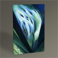 Tablo 360 Georgia O'keeffe Blue And Green Music 45X30