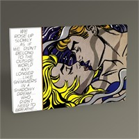 Tablo 360 Roy Lichtenstein We Rose Up Slowly Tablo 45X30