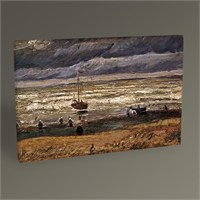 Tablo 360 Vincent Van Gogh View Of The Sea At Scheveningen 45X30