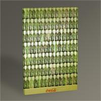 Tablo 360 Andy Warhol Green Coca Cola Battles Tablo 45X30