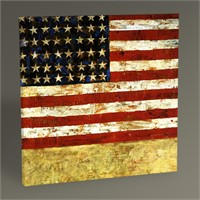 Tablo 360 Jasper Johns Flag Tablo 30X30