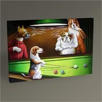 Tablo 360 Bilardo Oynayan Köpekler Tablo 45X30
