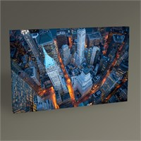 Tablo 360 New York Wall Street Kanvas Tablo 45X30