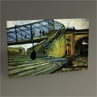 Tablo 360 Vincent Van Gogh-The Trinquetaille Bridge 45X30