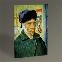Tablo 360 Vincent Van Gogh-Portrait With Bandaged Ear 45X30