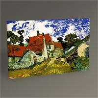 Tablo 360 Vincent Van Gogh-Thatched Sandstone Cottages İn Chaponval 45X30