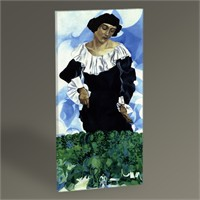 Tablo 360 Marc Chagall Bella With White Collar Tablo 60X30