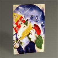 Tablo 360 Marc Chagall Peasant Life Tablo 45X30