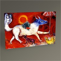Tablo 360 Marc Chagall Cow With Parasol Tablo 45X30